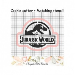Dinosaur cookie cutter and...