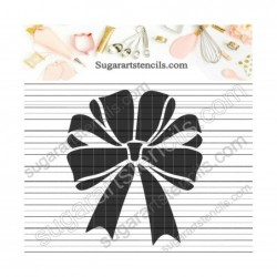 Gift bow cookie stencil...