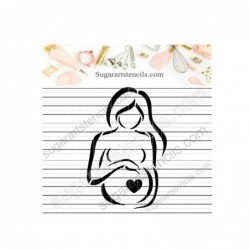 Pregnant woman cookie...