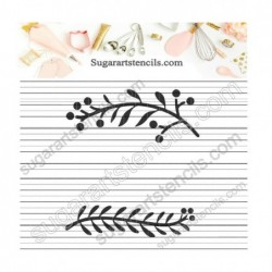 Decorative elements leaf...