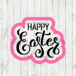 Happy Easter words cookie...