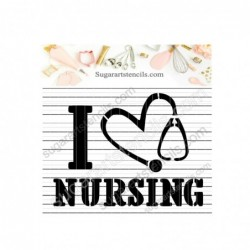 Nursing cookie stencil...
