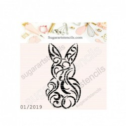 Easter bunny cookie stencil...