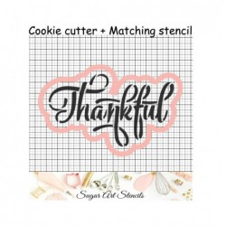 Thankful word cookie cutter...