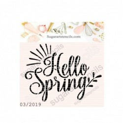 Hello Spring cookie stencil...
