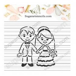Wedding PYO Cookie stencil...