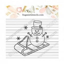 Winter PYO cookie Stencil...