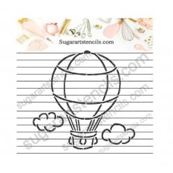 Hot air balloon PYO cookie...