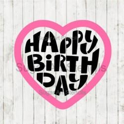 Happy Birthday heart shaped...