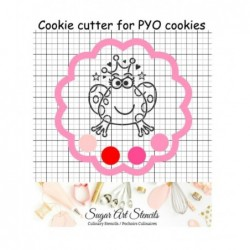 Flower shaped PYO cookie...