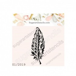 Feather cookie stencil Boho...