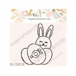 Easter bunny PYO cookie...