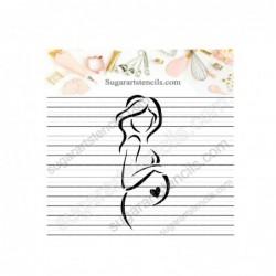 Pregnant woman silhouette...