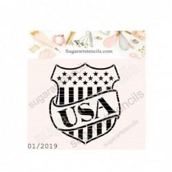 USA shield cookie stencil...