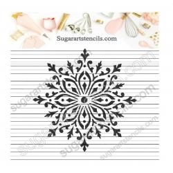 Snowflake cookie stencil...