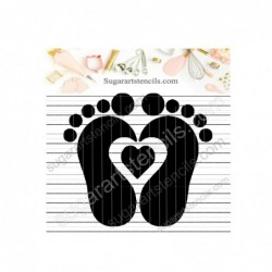 Baby foot print cookie...