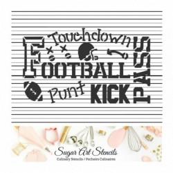 Football cookie Stencil...