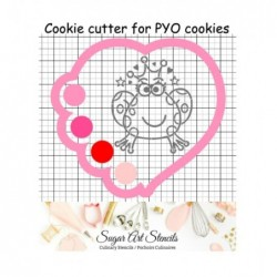 Heart shaped PYO cookie...