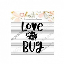 Love bug cookie stencil...