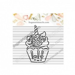 Unicorn cupcake PYO cookie...
