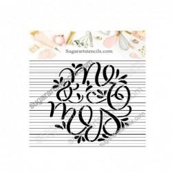 Wedding cookie stencil Mr...