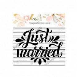 Wedding cookie stencil...