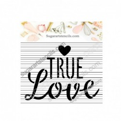 True love cookie stencil...