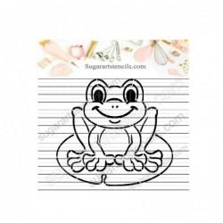 PYO cookie stencil Frog...