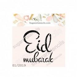 Eid Mubarak cookie stencil...