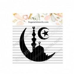 Ramadan moon mosque cookie...