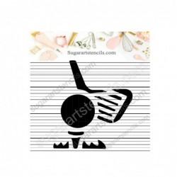 Golf cookie stencil sport...