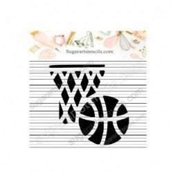 Basketball cookie stencil...