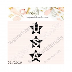 USA stars cookie stencil NS02