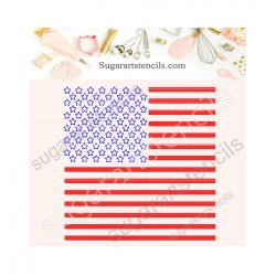 2 parts USA flag stars and...