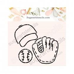 Baseball PYO cookie Stencil...