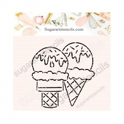 Ice cream summer PYO cookie...