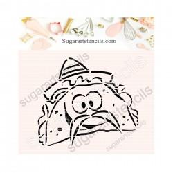Tacos PYO cookie Stencil...