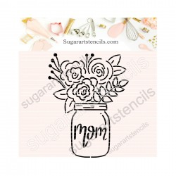 Flower pot cookie stencil...