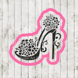 High heel floral cookie...