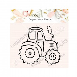 Farm tractor PYO cookie...