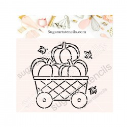 Fall pumpkin cart wagon PYO...