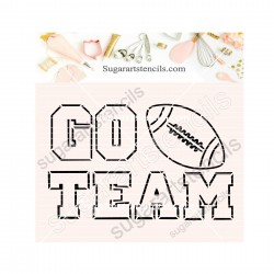 Go team American Football...
