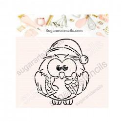 Christmas owl PYO cookie...