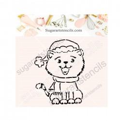 Christmas cat PYO cookie...