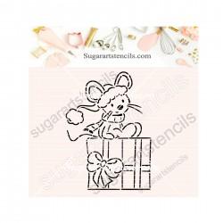 Christmas mouse PYO cookie...