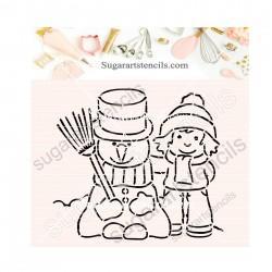 Winter Christmas snowman...