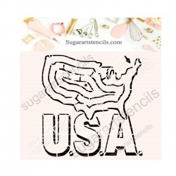4th of July USA map maze...