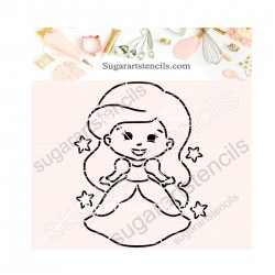 Princess PYO cookie Stencil...