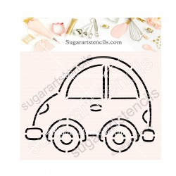 Car PYO cookie Stencil SA00365