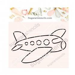 Plane PYO cookie Stencil...